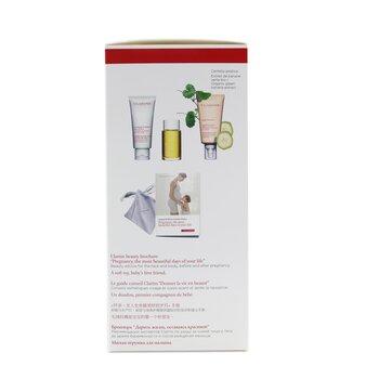 A Beautiful Pregnancy Set: Body Partner 175ml+ Exfoliating Body Scrub 200ml+ Body Treatment Oil-Tonic 100ml  3pcs