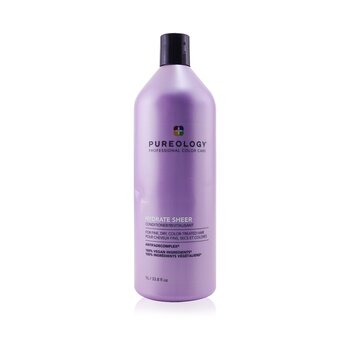 Hydrate Sheer Conditioner - For Fine, Dry, Color-Treated Hair (Bottle Slightly Crushed) 1000ml/33.8oz