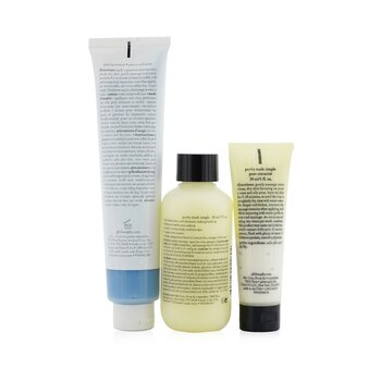 Glow All Year Long 3-Pieces Gift Set: One-Step Facial Cleanser 90ml + Peeling Mousse 75ml + Exfoliating Clay Mask 30ml (Exp. Date 08/2021)  3pcs