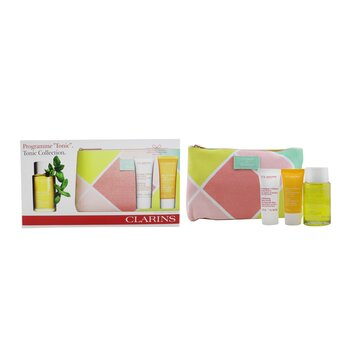 Tonic Collection: Tonic Body Treatment Oil 100ml+ Exfoliating Body Scrub 30ml+ Tonic Bath & Shower Concentrate 30ml+ Bag 3pcs+1bag