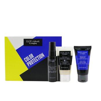 Hair Rituel By Sisley Color Protection Kit: 1x Shampoo 50ml, 1x Hair Mask 50ml, 1x Hair Fluid 40ml  3pcs