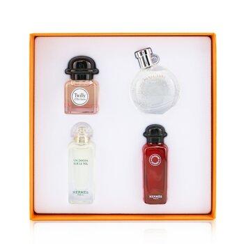 Miniature Coffret: Twilly D'Hermes, Un Jardin Sur Le Nil, Eau De Rhubarbe Ecarlate, Eau Des Merveilles  4x7.5ml/0.25oz