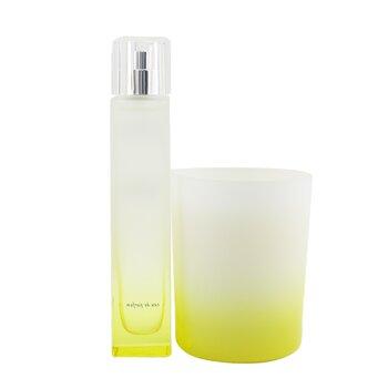 Le Matin Des Possibles Coffret: Eau De Parfum Spray 50ml/1.6oz + Scented Candle 140g/4.9oz  2pcs