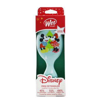 Mini Detangler Disney Classics - # Mickey & Minnie Holiday Magic White (Limited Edition)  1pc