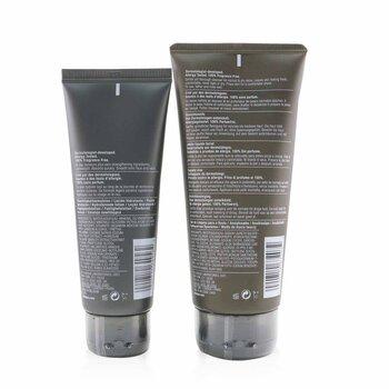 Men Cleanser + Hydrate 2-Pieces Set: Face Wash 200ml + Moisturizing Lotion 100ml  2pcs