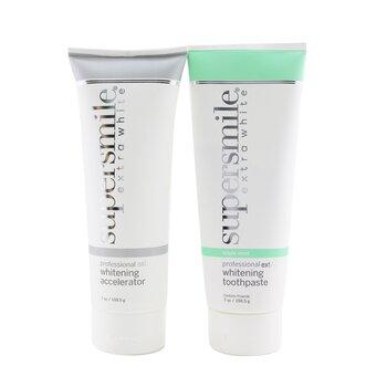 Extra White Professional Extra Whitening System (Premium Set) - Triple Mint : Accelerator 198.5g + Toothpaste 198.5g  2x198.5g/7oz