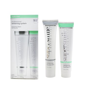 Extra White Professional Extra Whitening System (Deluxe Travel) - Triple Mint : Accelerator 70.8g + Toothpaste 70.8g  2x70.8g/2.5oz
