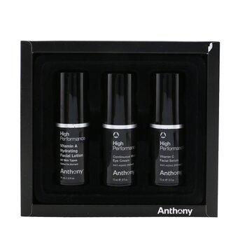 High Performance Age Defying Trio Set: Vitamin C Facial Serum 15ml +Vitamin A Facial Lotion 15ml + Eye Cream 15ml  3x15ml/0.5oz