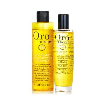 Oro Therapy 24k Golden Beauty Set (Limited Edition): Oro Puro Illuminating Fluid 100ml + Gold Beauty Micellar Water 200ml  2pcs