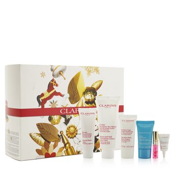 Weekend Essentials: Hand & Nail Treatment+ Beauty Flash Balm+ Body Lotion+ Hydra-Essentiel Cream+ Eye Contour Gel+ Lip Oil...  6pcs+1bag