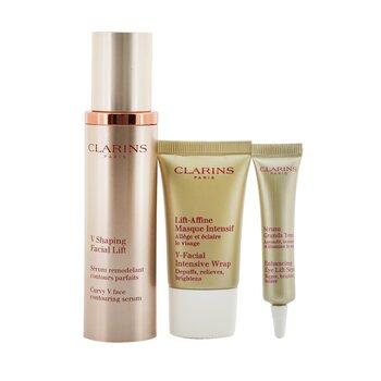 V Shaping Facial Lift Collection: V Shaping Facial Lift 50ml+ Eye Lift Serum 7ml+ V-Facial Intensive Wrap 15ml+ Pouch  3pcs+1pouch