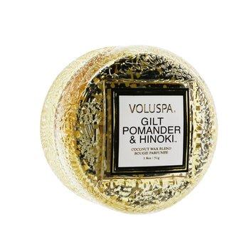 Macaron Candle - Gilt Pomander & Hinoki  51g/1.8oz