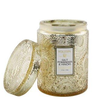 Small Jar Candle - Gilt Pomander & Hinoki  156g/5.5oz