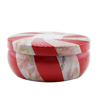 3 Wick Decorative Tin Candle - Crushed Candy Cane  340g/12oz