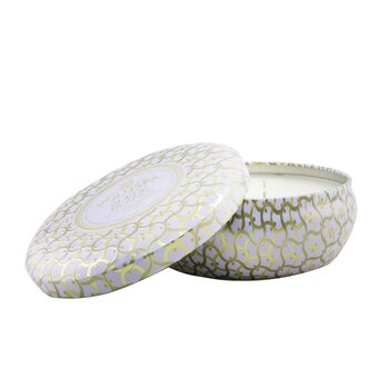3 Wick Decorative Tin Candle - Suede Blanc  340g/12oz