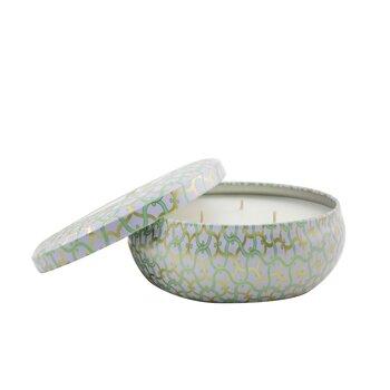 3 Wick Decorative Tin Candle - Laguna  340g/12oz