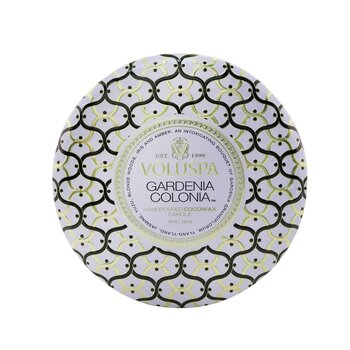 3 Wick Decorative Tin Candle - Gardenia Colonia  340g/12oz