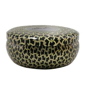 3 Wick Decorative Tin Candle - Suede Noir  340g/12oz
