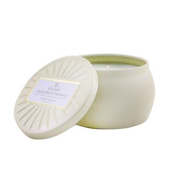 Mini Tin Candle - Coconut Papaya  127g/4.5oz