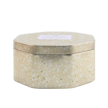 3 Wick Octagon Tin Candle - Blond Tabac  340g/12oz