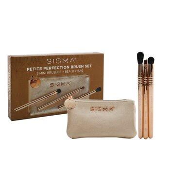 Petite Perfection Brush Set (3x Mini Brushes, 1x Bag)  3pcs+1bag