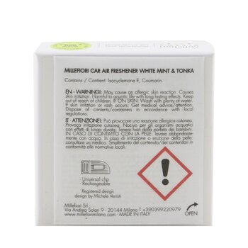 Icon Cuori & Fiori Car Air Freshener - White Mint & Tonka  1pc