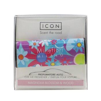 Icon Cuori & Fiori Car Air Freshener - Magnolia Blossom & Wood  1pc