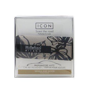 Icon Textile Floral Car Air Freshener - Vanilla & Wood  1pc
