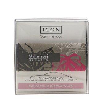 Icon Textile Floral Car Air Freshener - Magnolia Blossom & Wood  1pc