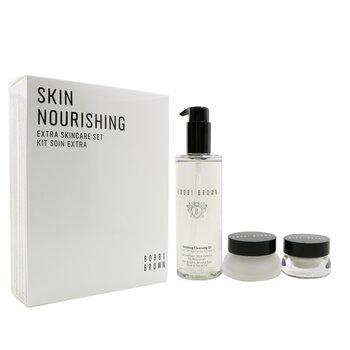 Skin Nourishing Extra Skincare Set: Cleansing Oil 200ml+ Extra Eye Repair Cream 15ml+ Extra Repair Moisture Cream 30ml  3pcs
