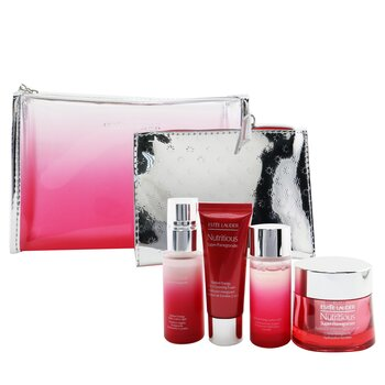 Nutritious Super-Pomegranate Reveal A Rosy Radiance Set: Moisture Creme+ Milky Lotion Light+ Lotion+ Cleansing Foam ...  4pcs+2bags