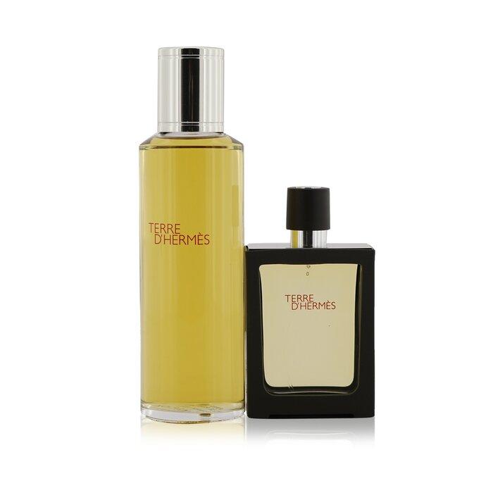 Hermes Terre D'Hermes Pure Parfum, Påfyllbar Spray 30ml1oz + Påfyll 125ml4.2oz 2pcs