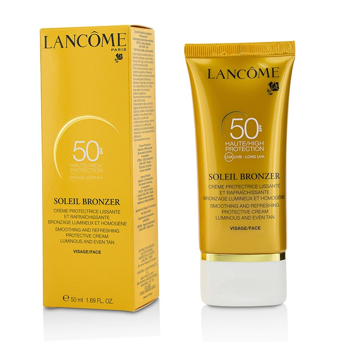 Lancome 蘭蔻- 臉部防曬乳霜SPF50 Soleil Bronzer Smoothing ...